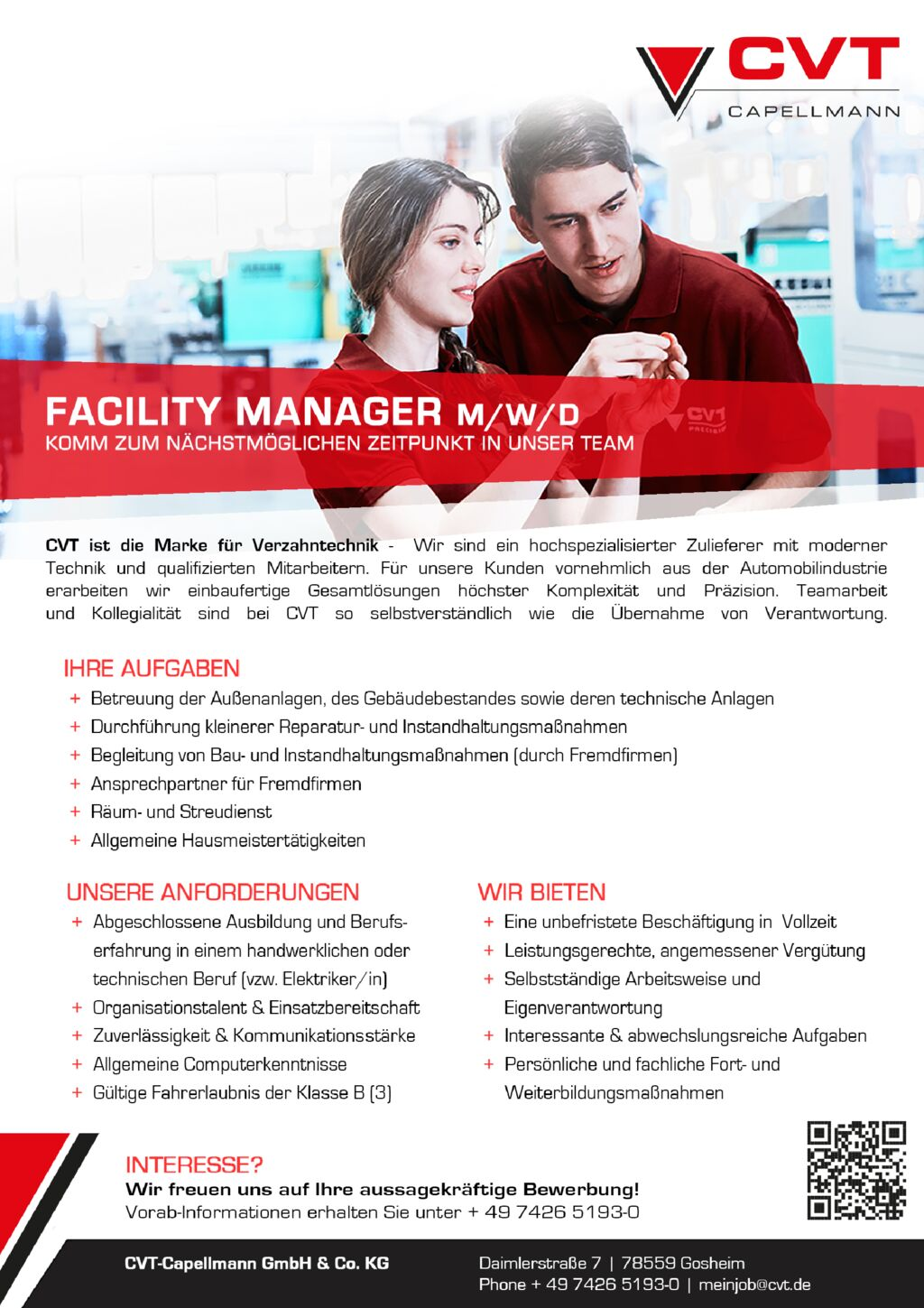 thumbnail of 2019 06 25 Stellenanzeige Facility Manager AMA