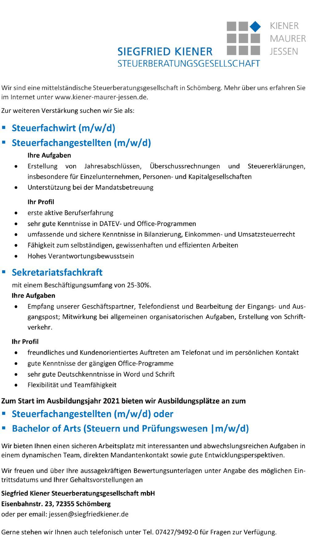 thumbnail of STB_Kiener_Anzeige Arbeitsmarkt Aktuell 20202